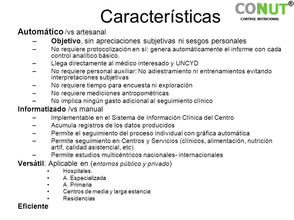 Características Automático /vs artesanal