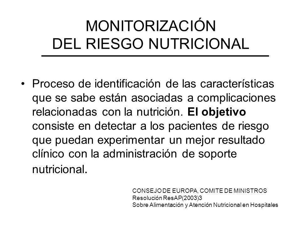 MONITORIZACIÓN DEL RIESGO NUTRICIONAL