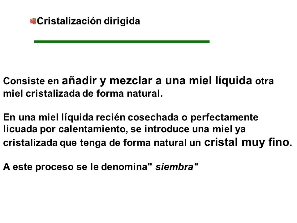 Cristalización dirigida