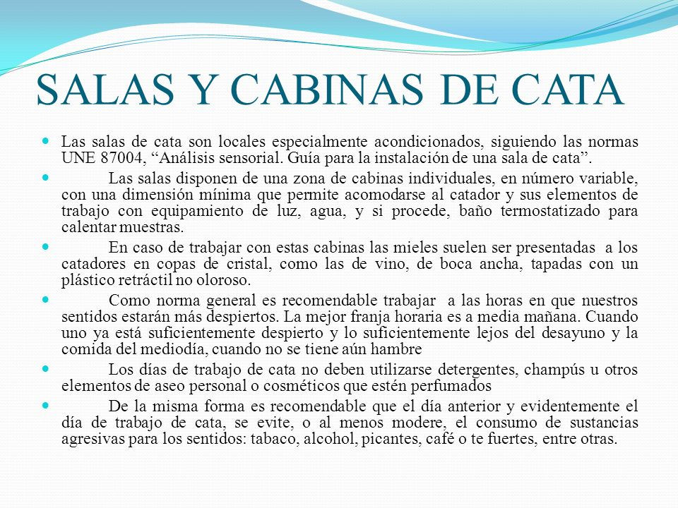 SALAS Y CABINAS DE CATA