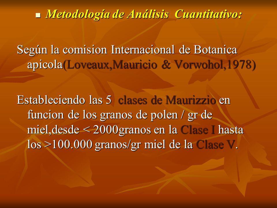 Metodología de Análisis Cuantitativo: