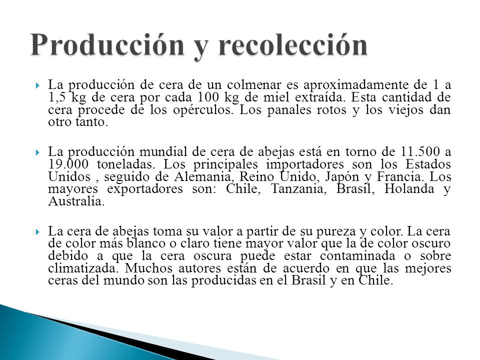 Producción y recolección