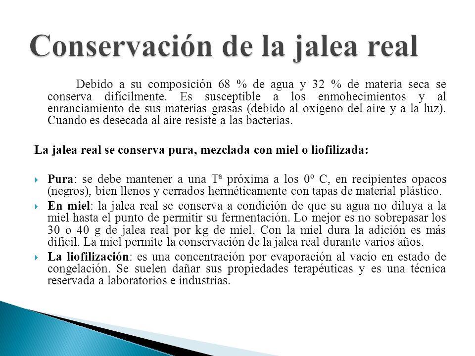 Conservación de la jalea real