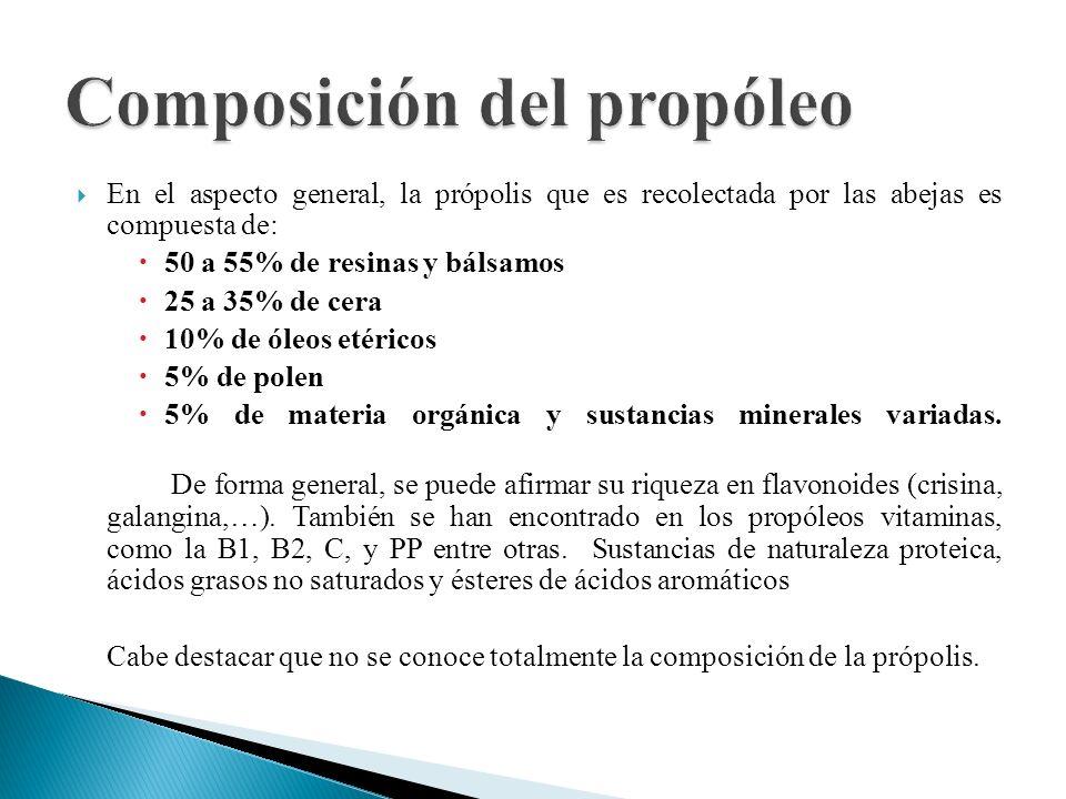 Composición del propóleo