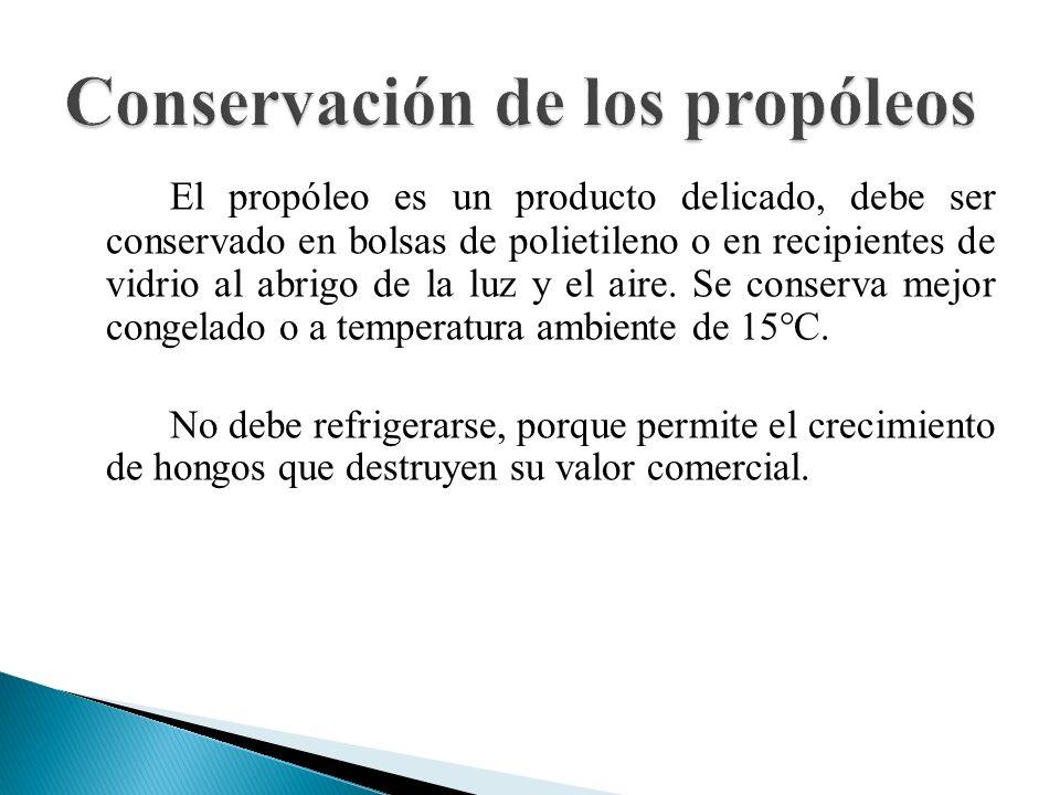 Conservación de los propóleos