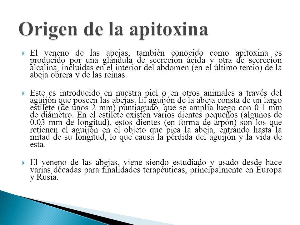 Origen de la apitoxina