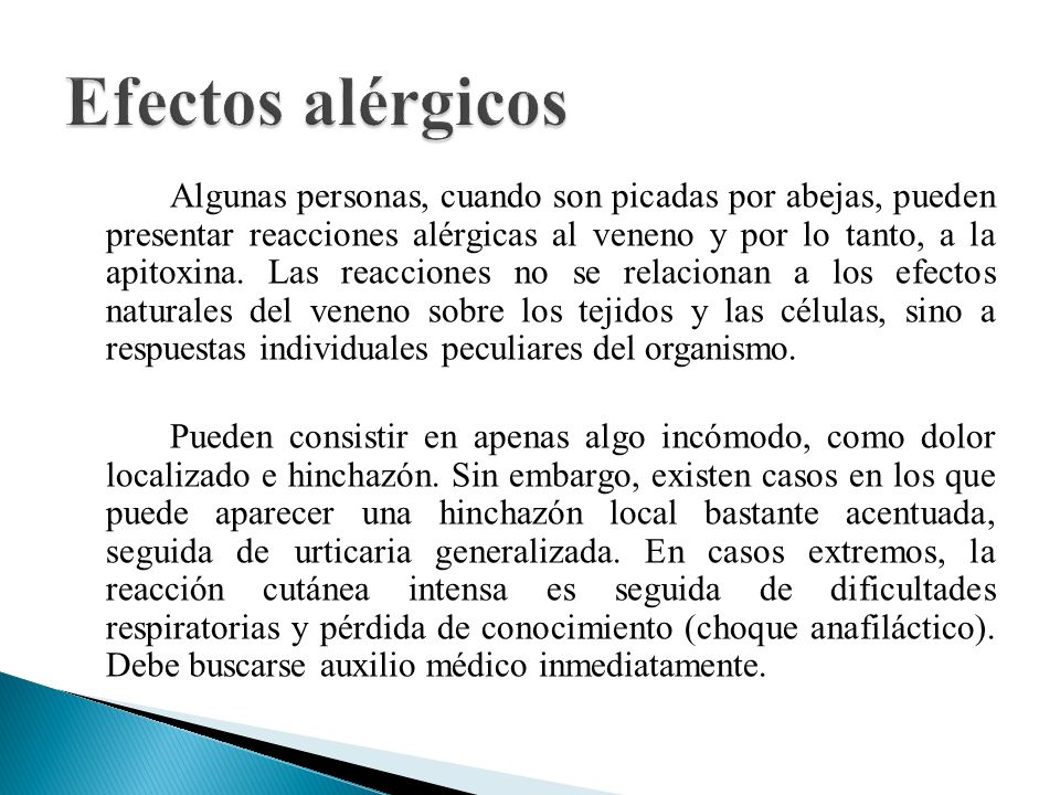 Efectos alérgicos