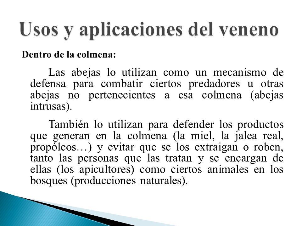 Usos y aplicaciones del veneno