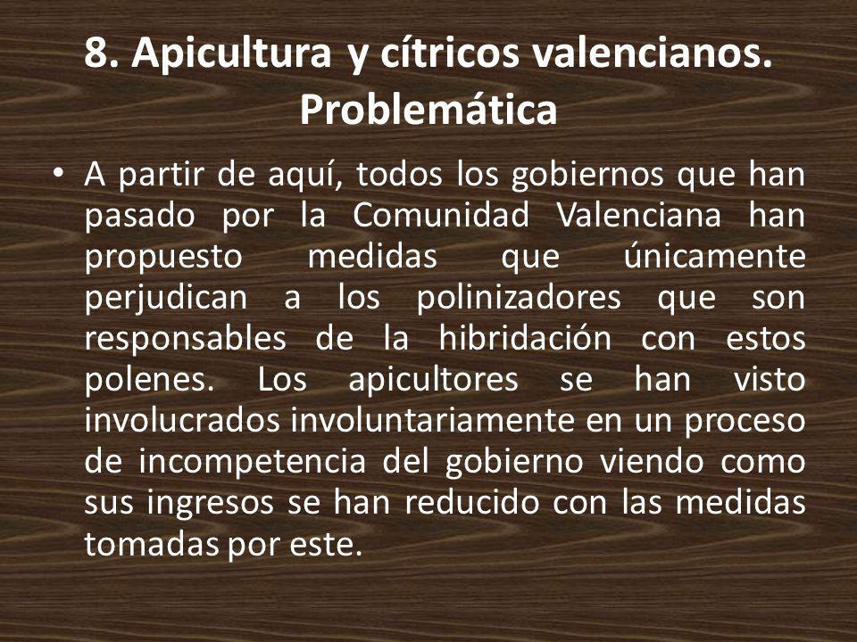 8. Apicultura y cítricos valencianos. Problemática