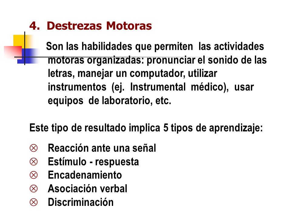 4. Destrezas Motoras