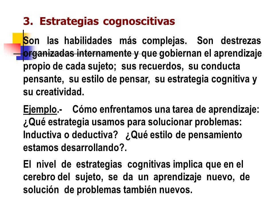 3. Estrategias cognoscitivas
