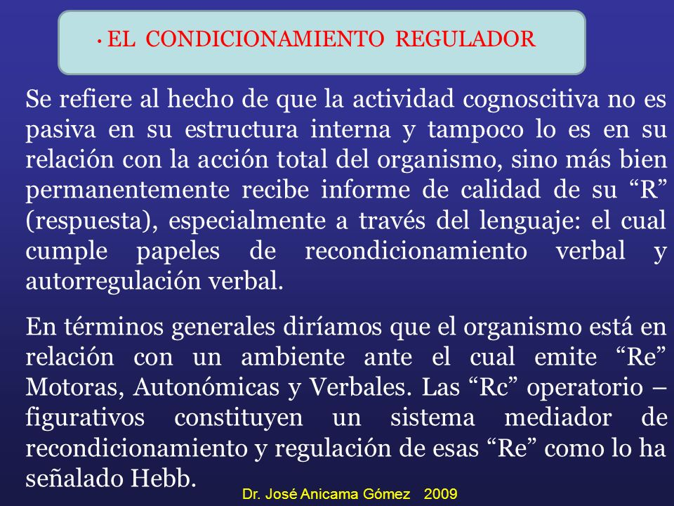 EL CONDICIONAMIENTO REGULADOR