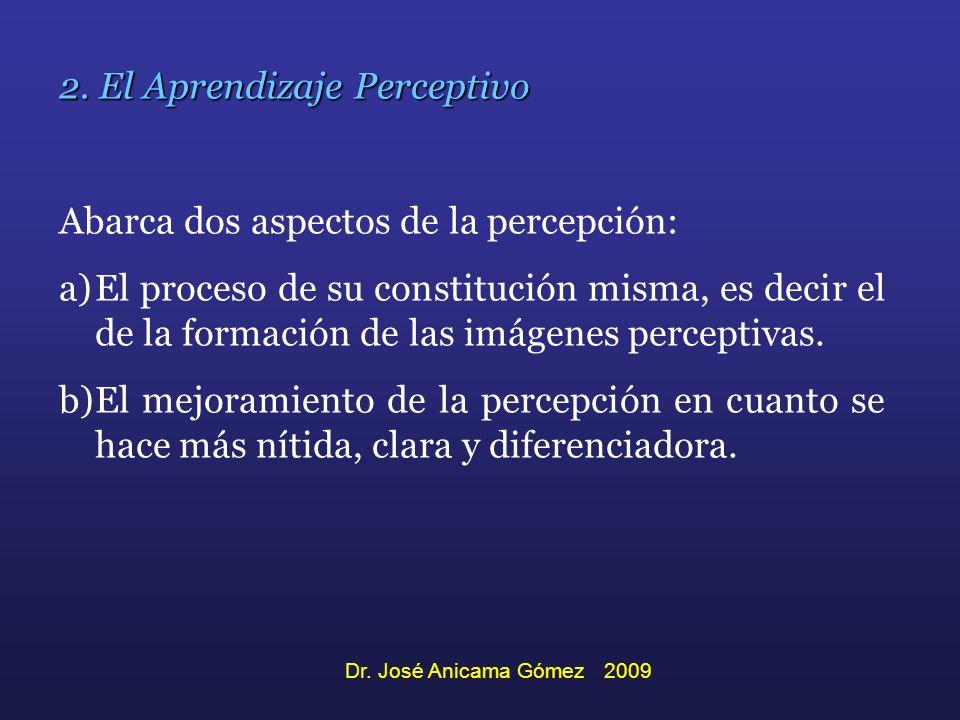 2. El Aprendizaje Perceptivo