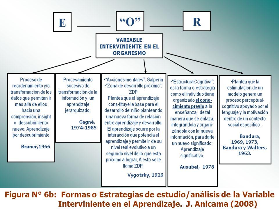 Figura N° 6b: Formas o Estrategias de estudio/análisis de la Variable