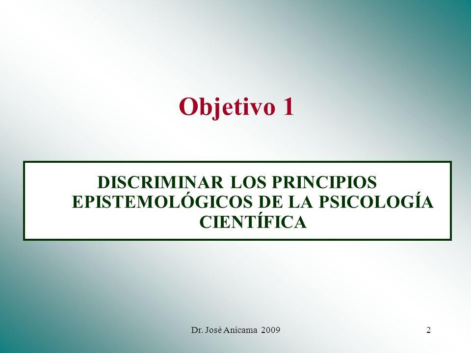 DISCRIMINAR LOS PRINCIPIOS EPISTEMOLÓGICOS DE LA PSICOLOGÍA CIENTÍFICA