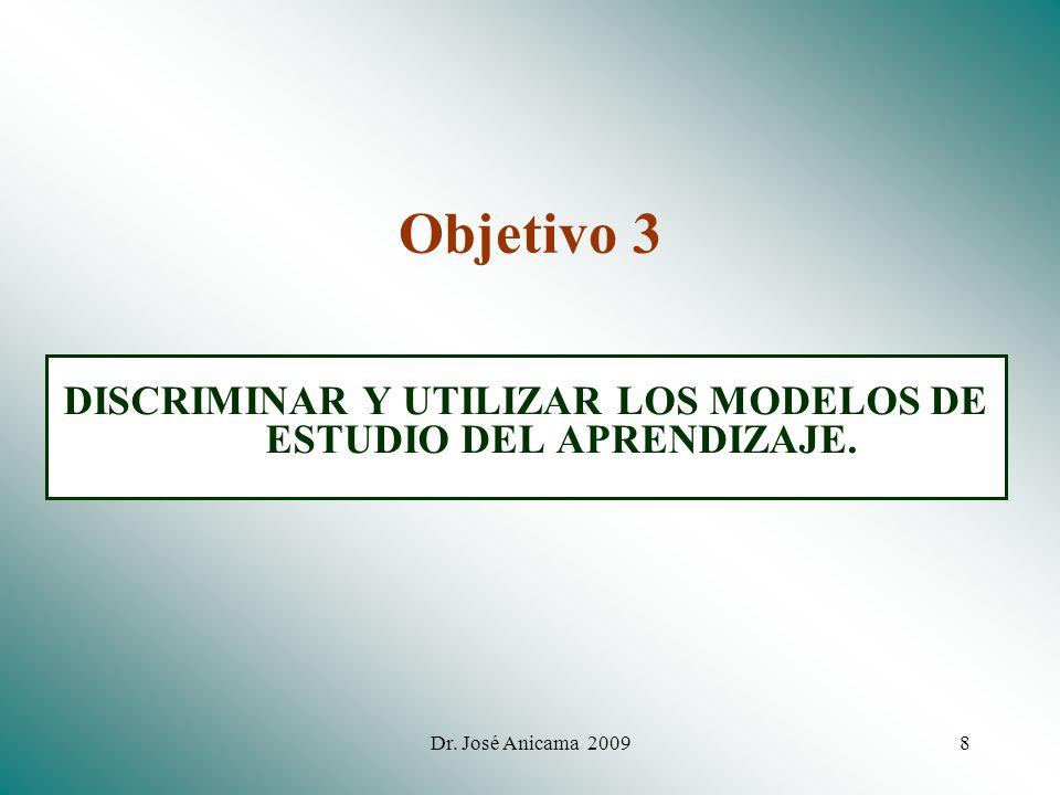 DISCRIMINAR Y UTILIZAR LOS MODELOS DE ESTUDIO DEL APRENDIZAJE.