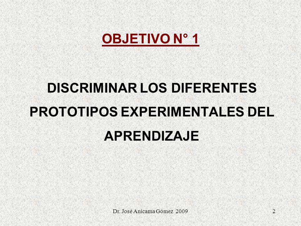 DISCRIMINAR LOS DIFERENTES PROTOTIPOS EXPERIMENTALES DEL APRENDIZAJE