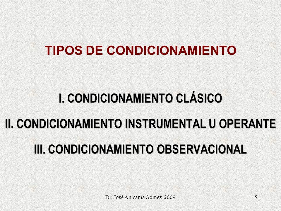 TIPOS DE CONDICIONAMIENTO