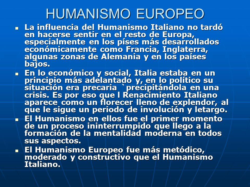 HUMANISMO EUROPEO