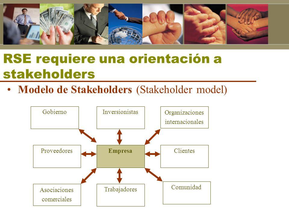RSE requiere una orientación a stakeholders