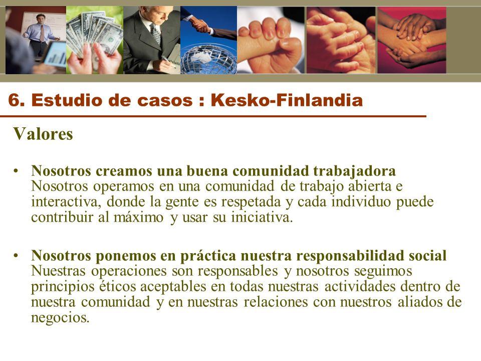 6. Estudio de casos : Kesko-Finlandia