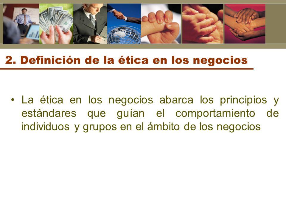 2. Definición de la ética en los negocios