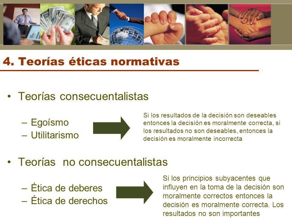4. Teorías éticas normativas