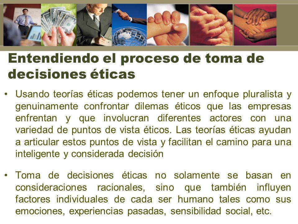 Entendiendo el proceso de toma de decisiones éticas