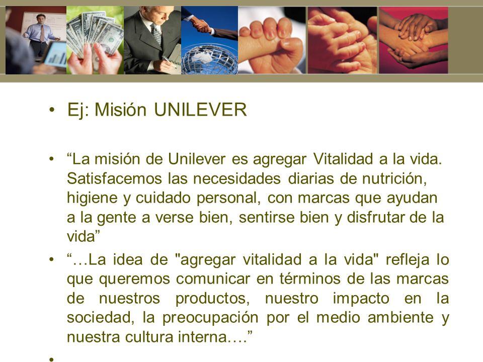 Ej: Misión UNILEVER