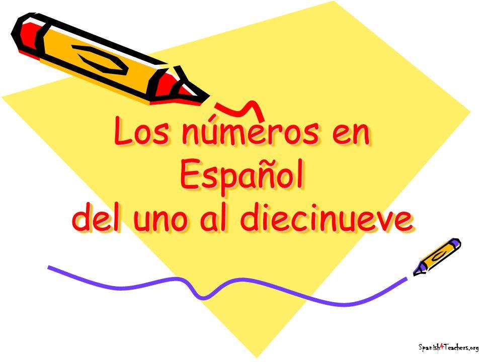 Los números en Español del uno al diecinueve
