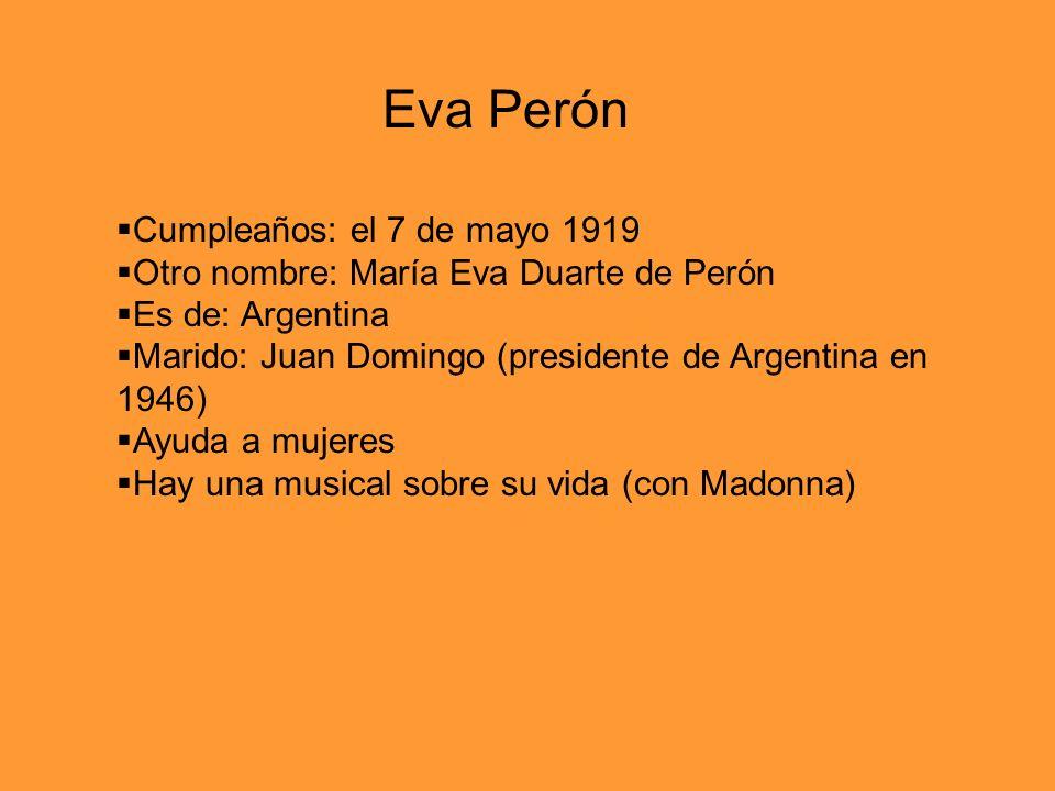 Eva Perón Cumpleaños: el 7 de mayo 1919
