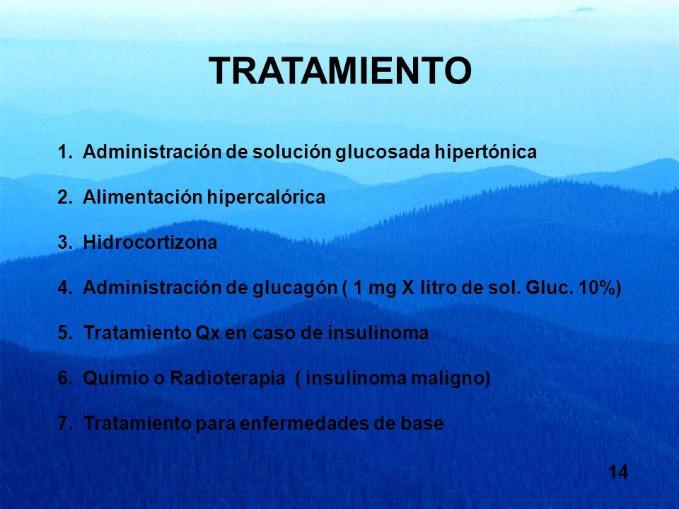 TRATAMIENTO Administración de solución glucosada hipertónica