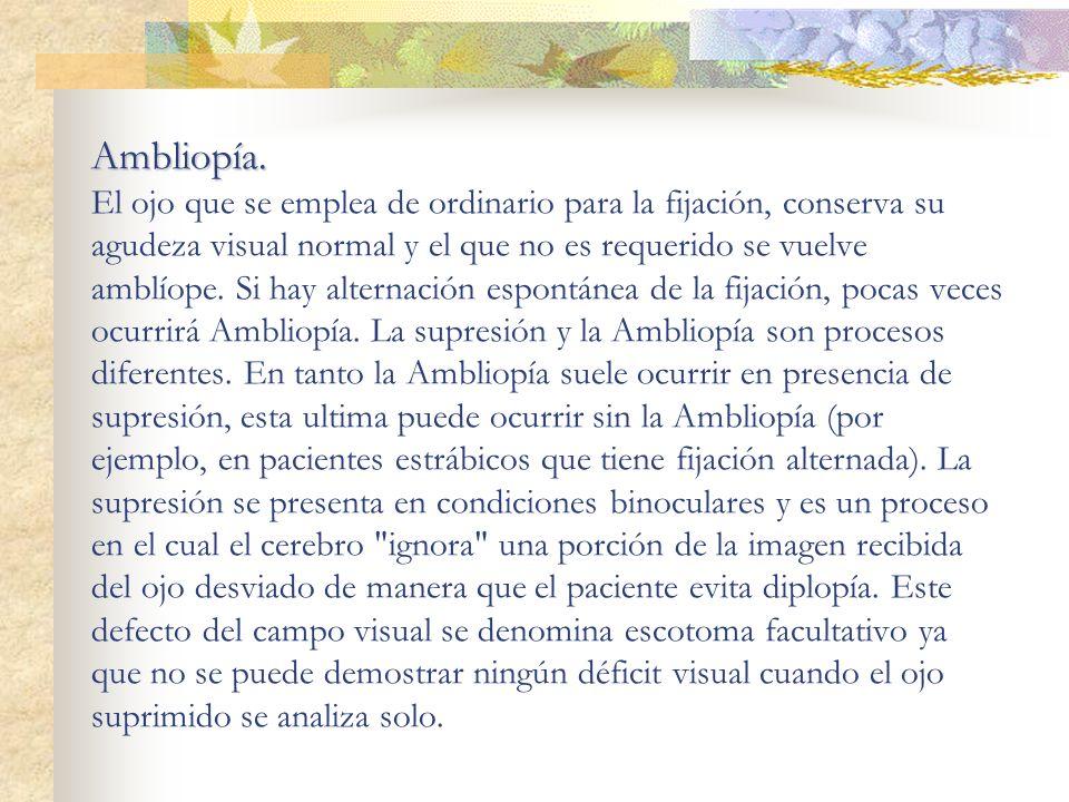 Ambliopía.