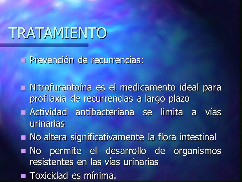 TRATAMIENTO Prevención de recurrencias: