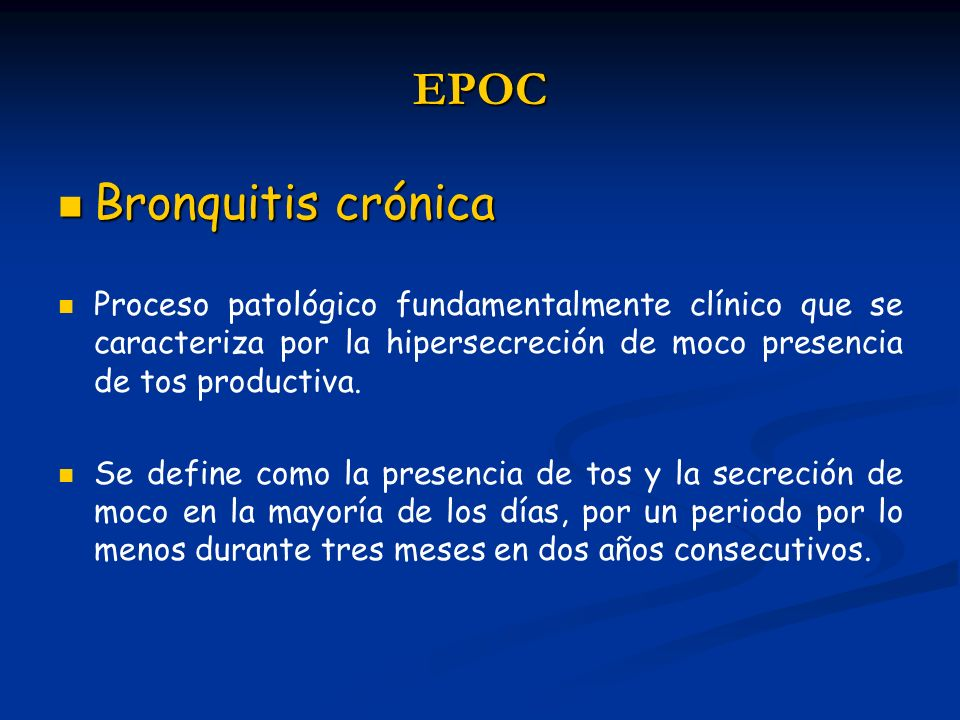 EPOC Bronquitis crónica
