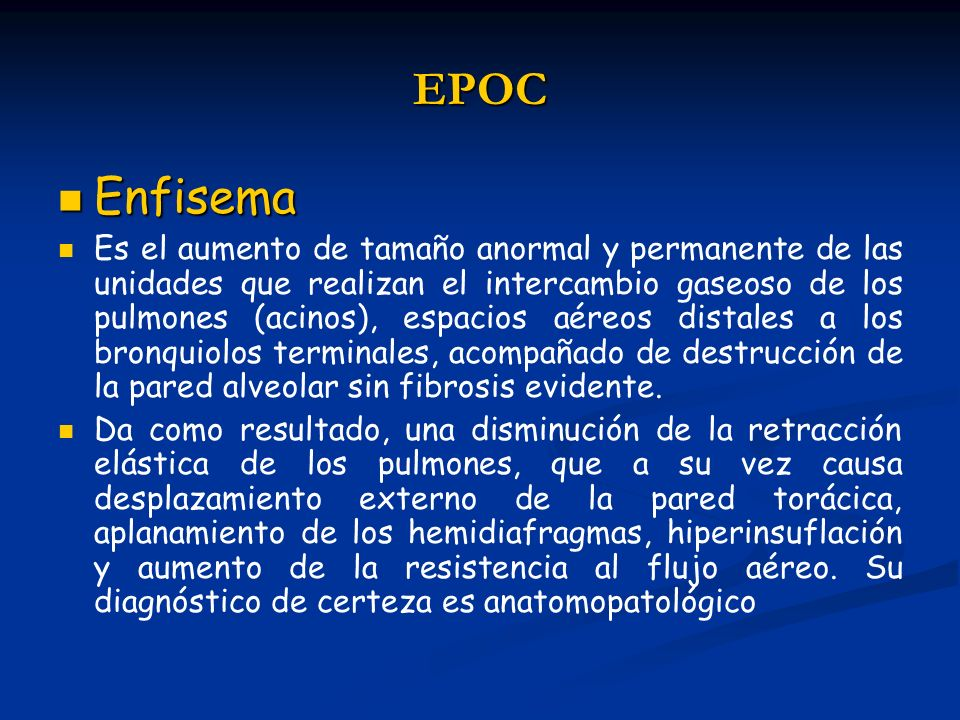EPOC Enfisema.