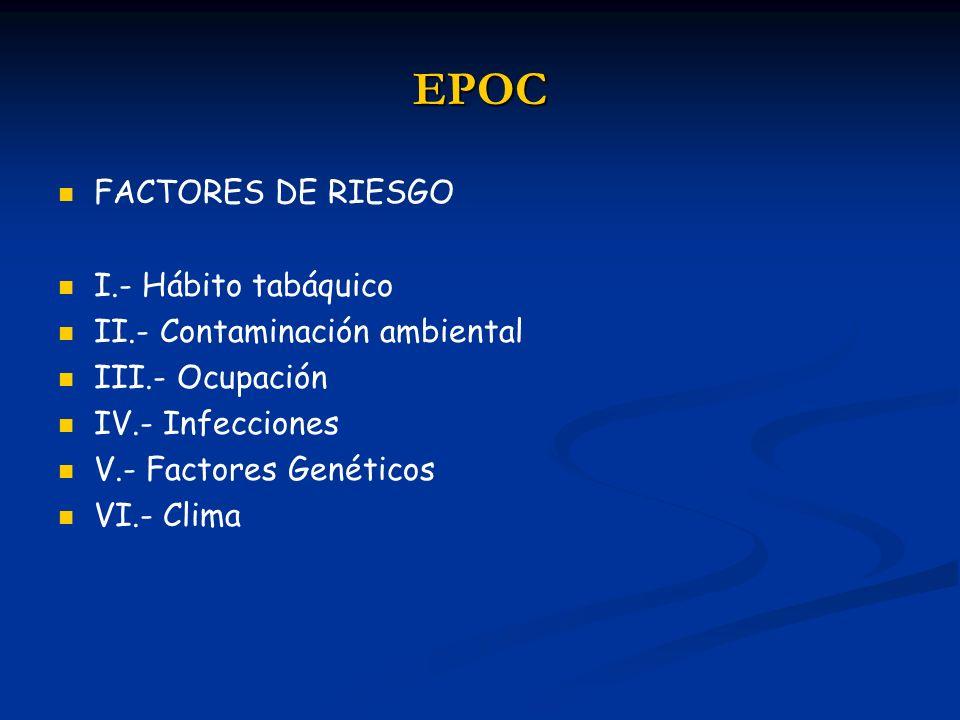EPOC FACTORES DE RIESGO I.- Hábito tabáquico