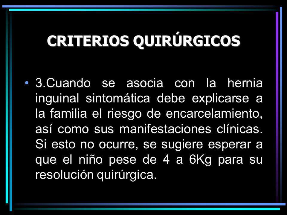 CRITERIOS QUIRÚRGICOS