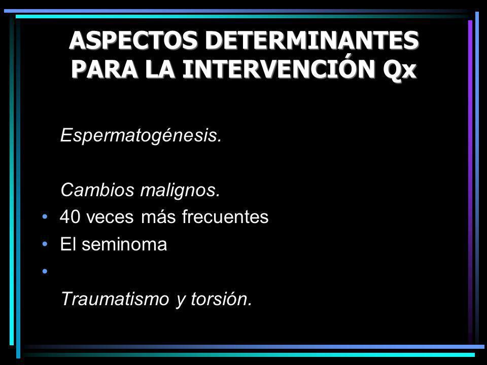 ASPECTOS DETERMINANTES PARA LA INTERVENCIÓN Qx