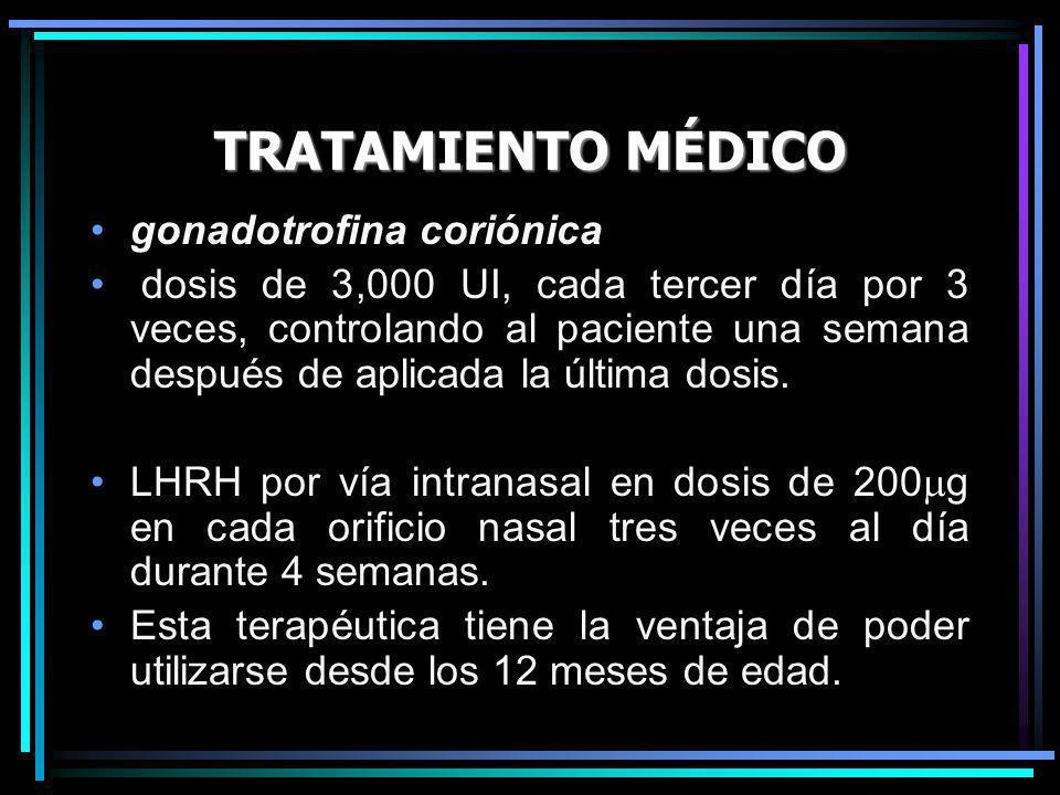 TRATAMIENTO MÉDICO gonadotrofina coriónica