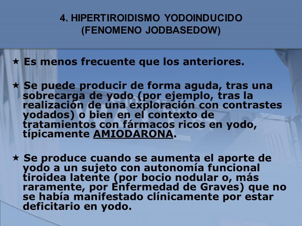 4. HIPERTIROIDISMO YODOINDUCIDO (FENOMENO JODBASEDOW)