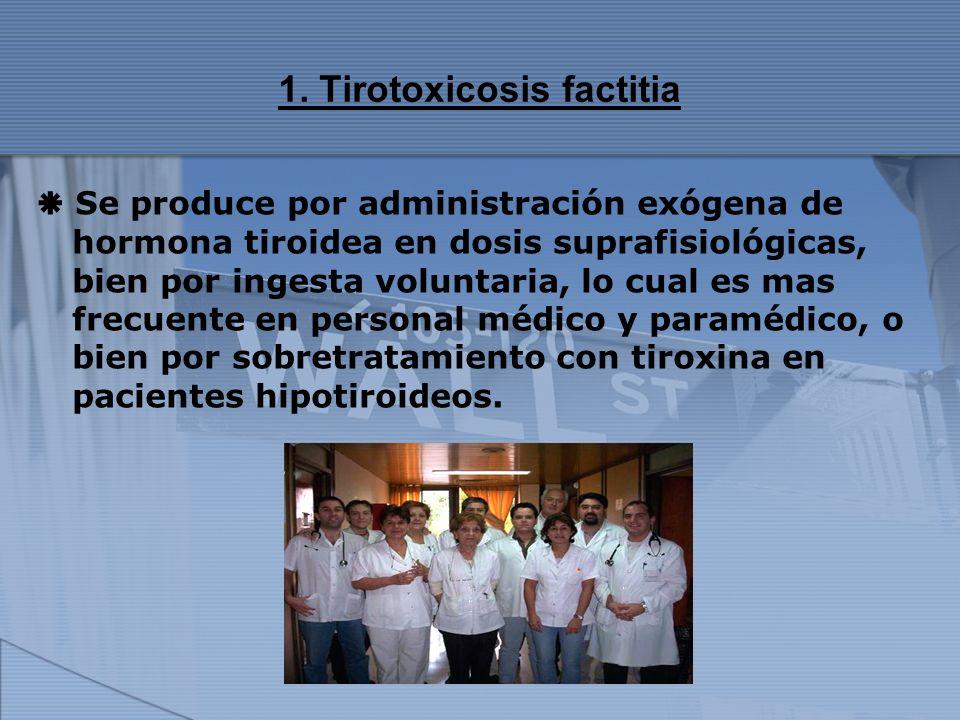 1. Tirotoxicosis factitia