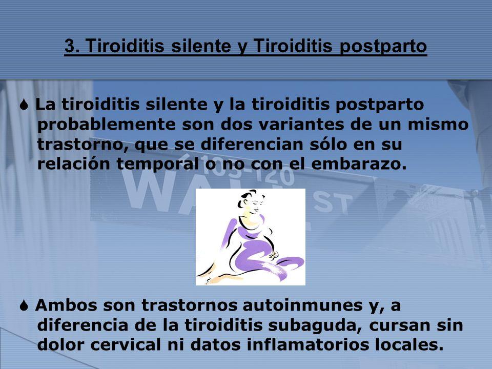 3. Tiroiditis silente y Tiroiditis postparto