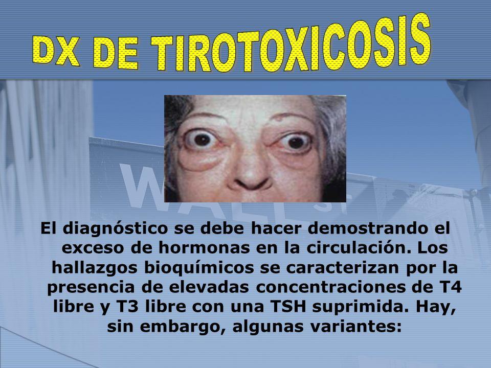DX DE TIROTOXICOSIS