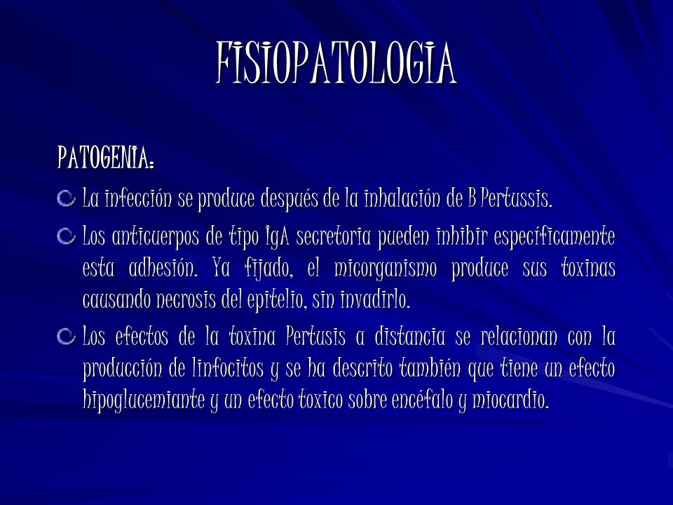FISIOPATOLOGIA PATOGENIA: