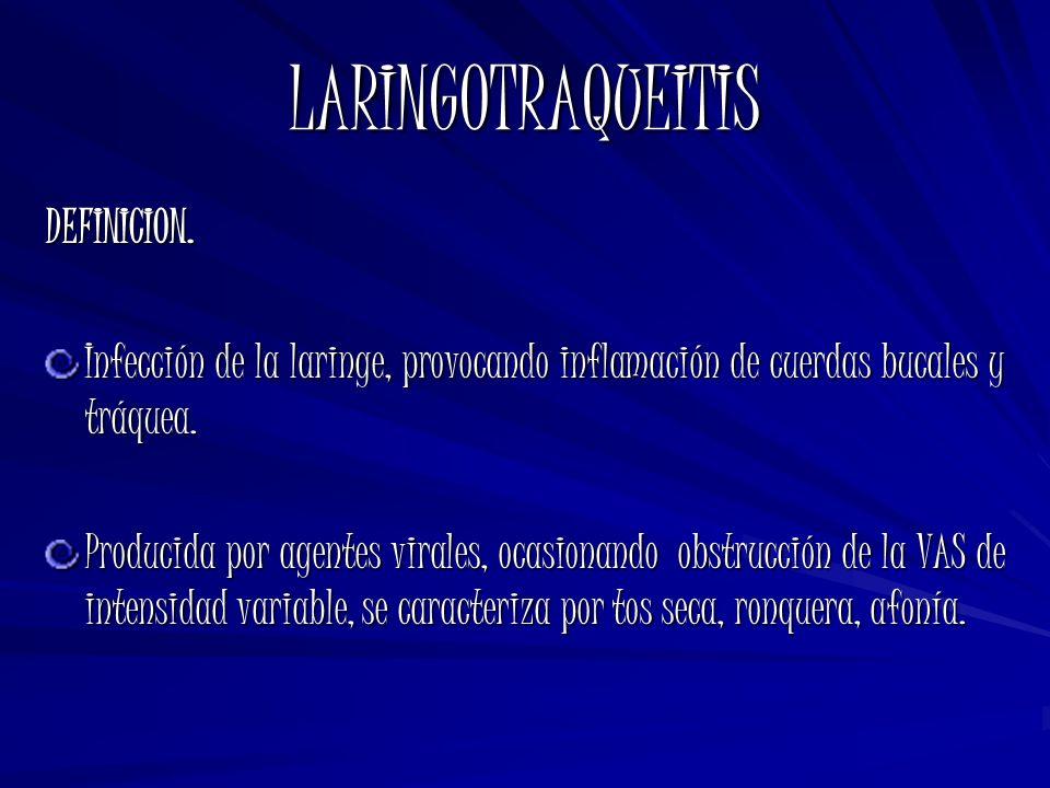LARINGOTRAQUEITIS DEFINICION.