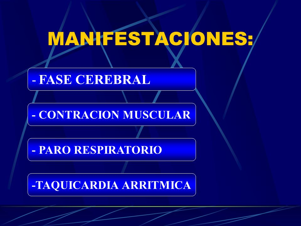 MANIFESTACIONES: - FASE CEREBRAL - CONTRACION MUSCULAR