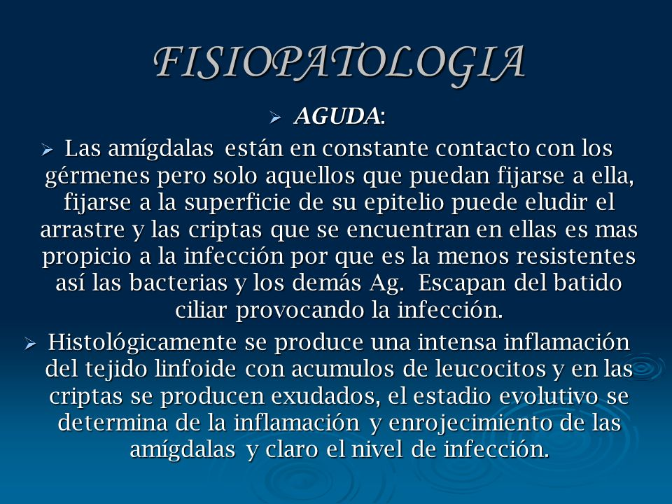 FISIOPATOLOGIA AGUDA: