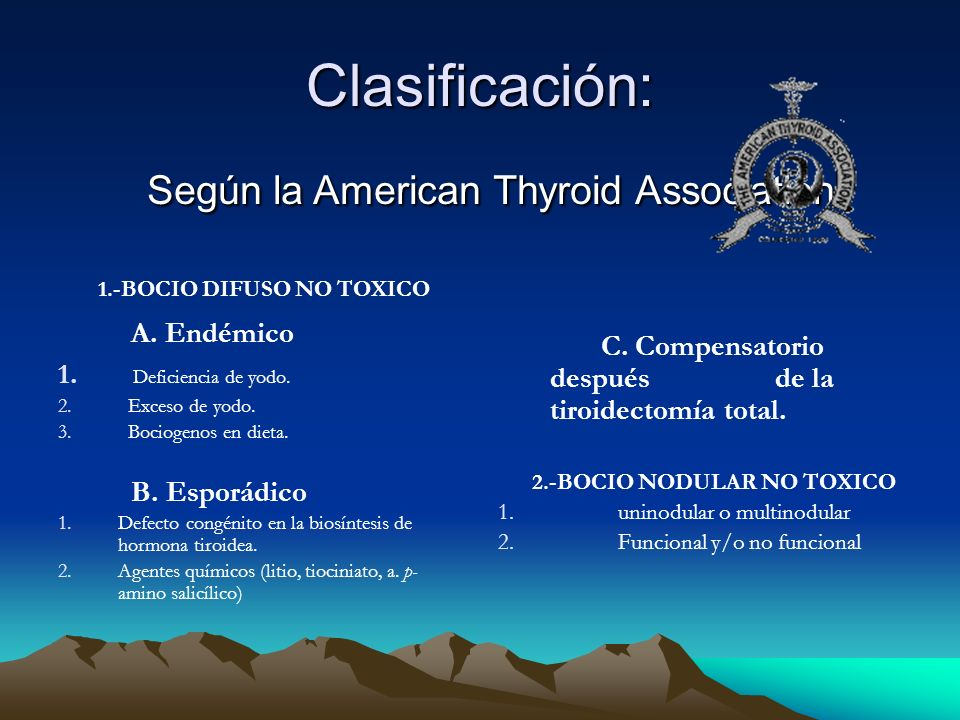 Según la American Thyroid Association: