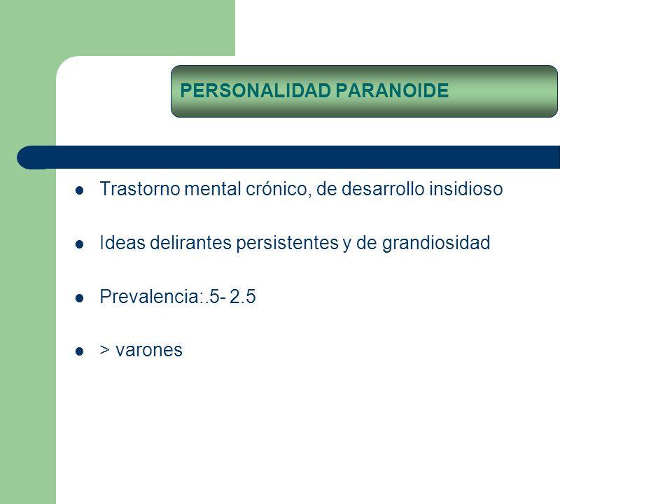 PERSONALIDAD PARANOIDE